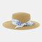 Women Travel Vacation Beach Hat Jazz Straw Hat Sun Protection Sun Hat - Khaki