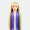 Multicolor Hairdressing Training Head Model Braided Disc Hair Salon Hairdresser Practice Mannequin - 11
