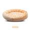 ラウンドショートぬいぐるみ猫の巣オールシーズンユニバーサル快適なSoft暖かい洗えるペットベッド - オレンジ