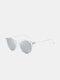 Unisex Transparent Full Frame Polarized UV Protection Coated Sunglasses - Transparent frame/Silver