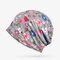 Женское Тонкий цветочный принт, хлопок Soft Шапочка Шапка На открытом воздухе Повседневная ветрозащитная одежда Шапка