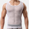 Mens Sexy Net See Through Undershirts Ice Silk Thin Breathable Stretch Underwear