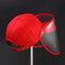 COLLROWN Transparent Detachable Sun Visor Anti-fog Cap - Red