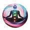 Round Style Yoga Mat Meditation Sport Fitness Anti-Skid Yoga Mat