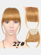 Air Bangs Wig Piece Chemical Fiber No-Trace Seamless Bangs Hair Extensions - #08