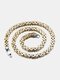 Vintage Stainless Steel Clavicle Chain Necklaces - Gold