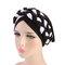 Mujer Soft Gorra de cáncer de turbante, trenza, trenzado, multicolor, con bordados