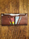 Men EDC Brown Genuine Leather Cow Leather Money Clip Card Case Wallet Purse - Coffee