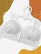 1 PC Anti-Deformation Quick Drying BRA Racks Wet And Dry Underwear Hangers Essentials For Clothes At Home - White