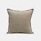 Solid Color Sofa Pillowcase Polyester Linen Creative Car Cushion Room Living Room Pillow - Khaki