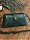 Women Vintage PU Leather Cylindrical Bag Crossbody Bag Shoulder Bag - Green