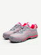 Mesh Steel Toe Lace Up Sport Hiking Shoes - Pink