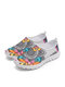 SOCOFY Large Size Fashion Sport Bohemian Printed Net Cloth Breathable Slip Resistant Comfy Slip On Walking Shoes Unisex Sneakers - Gray