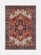Tappeto persiano Geometria retrò Design fiore rosso Soggiorno Camera da letto Corridoio Tappeto da comodino vintage 3D etnico lavabile - #01