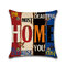 Vintage Mediterranean Hand-Painted Letters Cushion Cover Linen Throw Pillow Car Home Decoration Decorative Pillowcase - #4