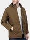 Mens USB Safety Electric Heated Thermal Jackets Windproof Waterproof Outdoor Coats - Brown