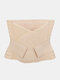 Women Abdomen Control Postpartum Recovery Breathable Shapewear With Sticky Strap - Nude