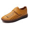 LOSTISY Hollow Out Confortável Soft Sole Casual Ajustável Gancho Loop Plano Shoes