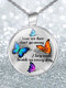 Vintage Dragonfly Women Necklace Hummingbird Butterfly Glass Pendant Necklace - #05