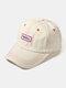 ユニセックスコットンレター刺繡パターン屋外サンシェード野球帽 - ベージュ