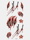 40 piezas 3D estéreo Impermeable tatuajes pegatinas escorpión flor transferencia de agua tatuaje pegatinas - 05
