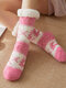 Calzino da donna alce natalizio Plus Velvet Sleep Calze Casual Floor Calze - Rosa