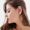 Copper Inlaid Zircon Plated Gold Puncture Earrings Surround Auricle Women Ear Clip - 07