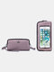 RFID Genuine Leather 6.5 inch Touch Screen Phone Bag Long Wallet Clutch Purse - Purple