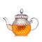 Teapot Transparent Thicken Glass Teapot With Filter Exquisite Pineapple Flower Teapot with 4 Cups  - #1