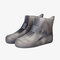 Unisex Waterproof Reusable Outdoor Boots Covers High Top Non Slip Foot Cover Protect - Gray