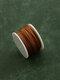 5PCS Holzgriff Leder DIY Nähahle Satz Handhefter Professionelle handgefertigte Ledernähmaschine Lock Stitching Tool Set - Nur braune Spule