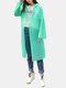 PEVA Body Protective Suit Disposable Dust-proof Water-proof Hiking Raincoat - Green