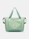 Large Capacity Scalable Design Travel Bag Dry And Wet Separation Waterproof Foldable Multi-Pockets Tote - Light Green