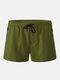 Mens Beach Board Shorts Waterproof Jogging Running Sports Breathable Gym Training Fitness Pants - Army Green