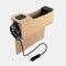 カーシートギャップ収納ボックスUSB充電ベルトデジタルディスプレイ収納ボックス多機能レザーカーウォーターカップホルダー - ベージュ