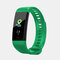 Smart Band Heart Rate Blood Pressure Monitor Bluetooth Color Screen Smartband Activity Monitor Fitness Tracker - Green