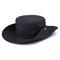 メンズレディースシルクバイザーバケットハットフィッシャーマンハットアジャスタブルチンストラップ折りたたみ帽子 - ブラック