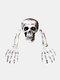 1 PC Halloween Haunted Skull House Realistic Bones Head And Hands Set Graveyard Scene Cosplay DIY Horror Party Decorations - #01