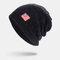 Men Wool America Flag WInter Keep Warm Beanie Skull Cap Woolen Knit Cap - Navy