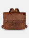 Multi-carry Anti-theft Large Capacity Shoulder Bag Backpack  Crossbody Bag Briefcase - Brown