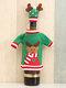 1 قطعة غطاء زجاجة نبيذ الكريسماس عيد الميلاد والتطريز كاريكاتير زينة مائدة الكريسماس - #03