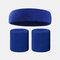 15 colori Soft Set di fascia per lo sport con fascia da polso per asciugamano Set di fascia per la fascia assorbente da sudore per sport sportivo - 14
