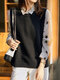 Solid Color Button High Low Hem Sleeveless Sweater - Black
