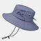 Men's Hiking Hat Big Breathable Sun Hat UV Protection Fisherman's Hat - Dark Gray