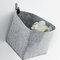 Filz Aufbewahrungsbox Aufbewahrungskorb Multifunktionale Schutzkleidung Verschiedenes Aufbewahrungskorb - Grau