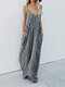 Summer Spaghetti Straps Casual Maxi Dress With Pockets - Grey