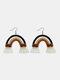Bohemian Handmade Rainbow Tassel Earrings Temperament Rope Braided Earrings - #27