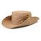メンズレディースシルクバイザーバケットハットフィッシャーマンハットアジャスタブルチンストラップ折りたたみ帽子 - カーキ
