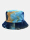 Women & Men Double-sided Tie-dye Corduroy And Cotton Warm Soft Outdoor Casual All-match Bucket Hat - #02