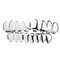 2Pcs Gold Silver Plated Teeth Grill Set Teeth Top Teeth Bottom Teeth Protect Removable Mouth Grill - Silver